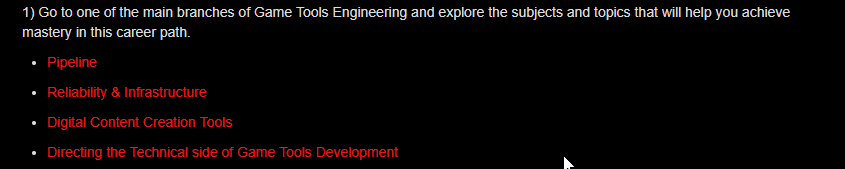 Engineer Learning Path Webpage Screenshot